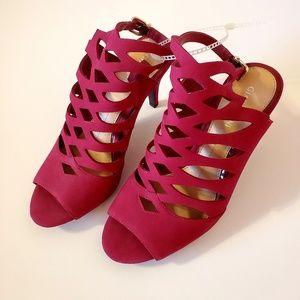NWT Gianni Bini Red High Heels Size 7.5